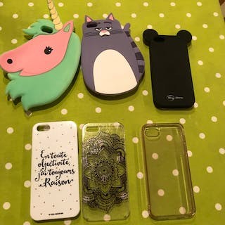 6 coques pour iPhone...