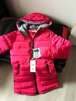 Manteau femme rose t...