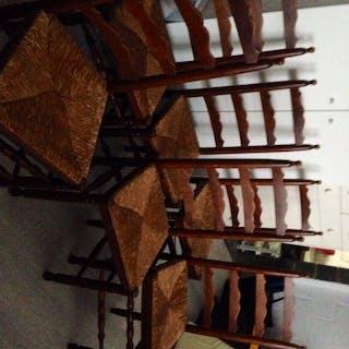 6 chaises en chene...